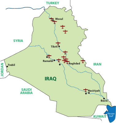 The Press And The Socalled US Troop Withdrawal From Iraq Grand - Map of us bases around iraq