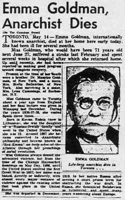 emma goldman essays 172 quotes from emma goldman: 'if i can't dance to it, it's not my revolution', 'people have only as much liberty as they have the intelligence to want and the courage to take', and 'i'd rather have roses on my table than diamonds on my neck'.