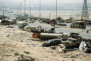 300px-Demolished_vehicles_line_Highway_80_on_18_Apr_1991