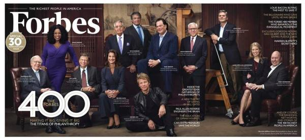 Handout of the cover of the Forbes 400 issue