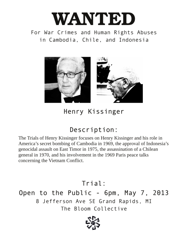 Kissinger Wanted Poster