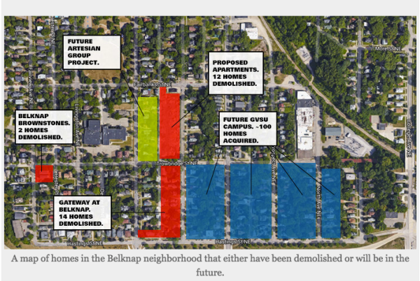 Grand Valley Pew Campus Map.Another Announced Land Grab By Gvsu Means More Surface Parking Lots