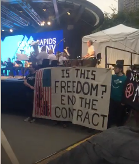 ICE out of Kent County campaign disrupts ArtPrize event